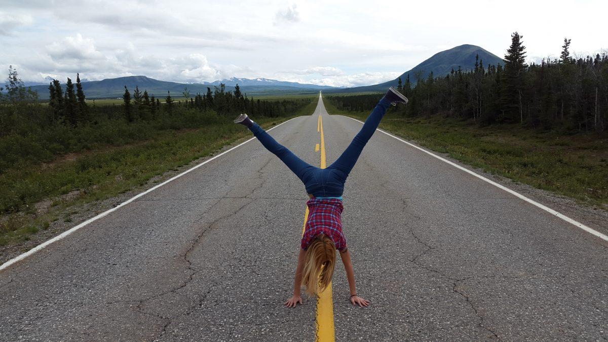 Hand stand Alaska