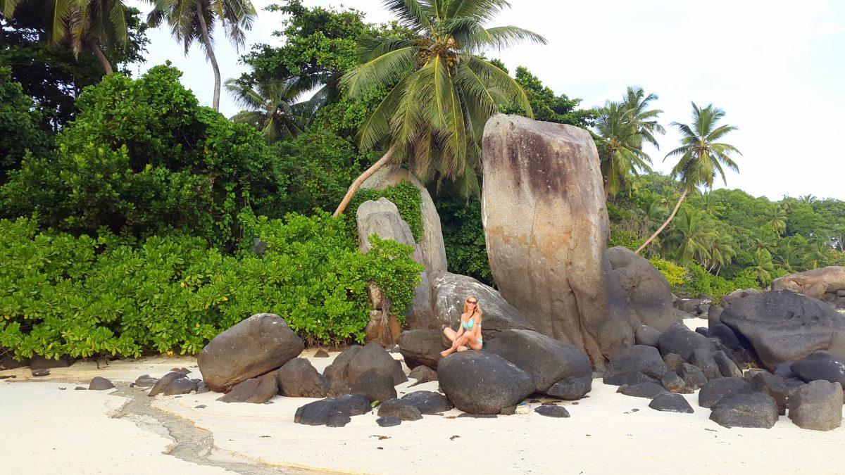 Mahe beach Seychelles yoga