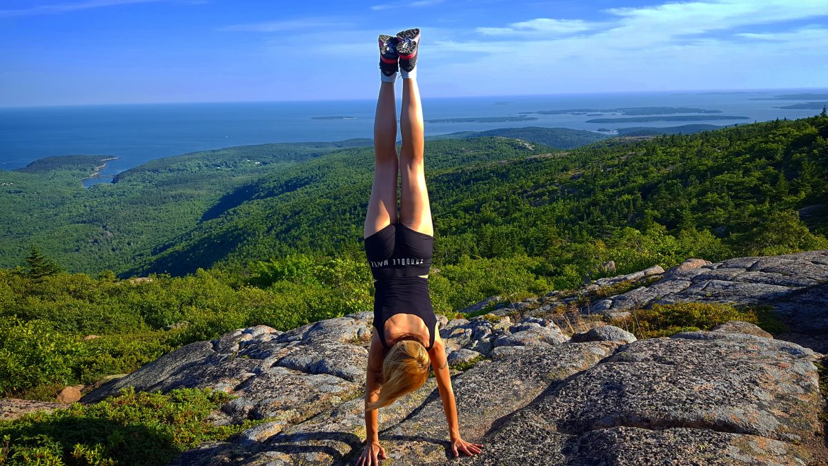 Acadia handstand Travel with Anda