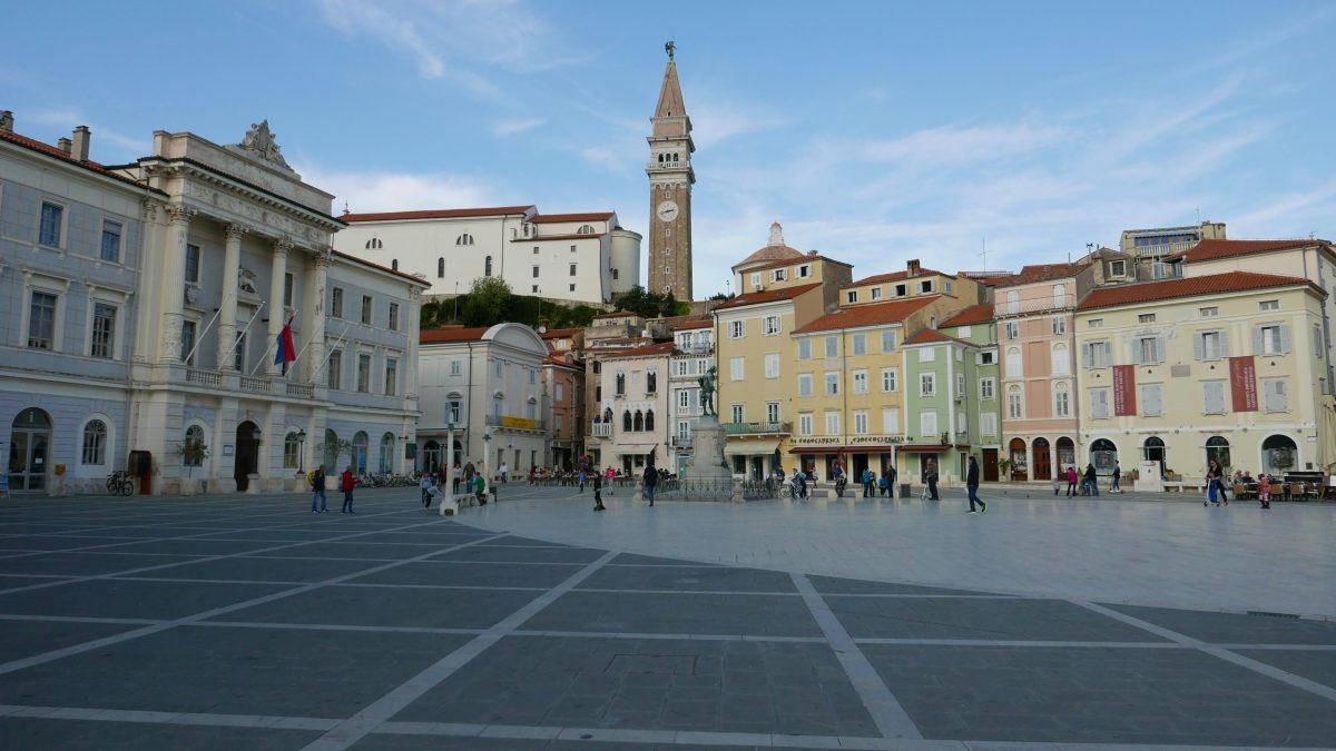 slovene coast piran tartini square
